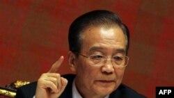 Kineski premijer Ven Djiabao govori na konferenciji za novinare u Dohi, u Kataru 18. januara 2012.