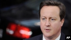 British Prime Minister David Cameron (file photo).