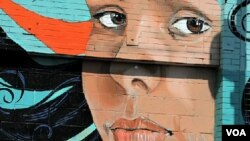 A Los Angeles mural painting.