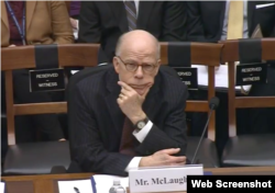 前中情局代局长麦克劳林到国会作证 (众议院军委会网站截图)