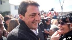El líder del Frente Renovador, Sergio Massa encabeza la elección primaria y se perfila como presidenciable para 2015.
