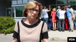Azra Miletić nakon izricanja prvostepene presude u ljeto 2017.