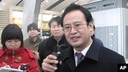 原中国铁道部新闻发言人王勇平(资料照片)