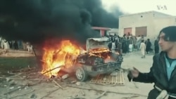 Angry Protesters Burn Taliban Buildings in Pakistan