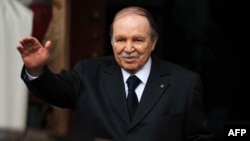 FILE - Algeria's President Abdelaziz Bouteflika is seen gesturing in Algiers, Jan. 14, 2013.