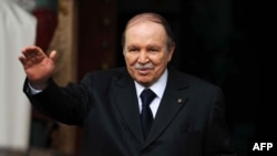 Algeria's President Abdelaziz Bouteflika is seen gesturing in Algiers in a January 14, 2013.