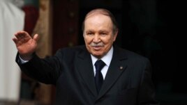 Algeria's President Abdelaziz Bouteflika is seen gesturing in Algiers in a January 14, 2013, file photo.