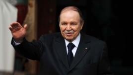 Algeria's President Abdelaziz Bouteflika is seen gesturing in Algiers in a January 14, 2013, file photo.