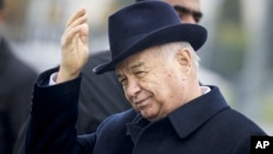 FILE - Uzbek President Islam Karimov is seen before a meeting in Samarkand, Uzbekistan, Nov. 1, 2015. After much speculation about his condition, Uzbekistan's government announced the death of its leader Friday.