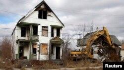 底特律城破敗景象。