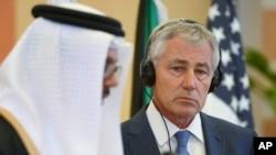 چک ہیگل چھ ملکی 'خلیج تعاون کونسل' کے وزرائے دفاع کے اجلاس میں شرکت کے لیے منگل کو جدہ پہنچے تھے