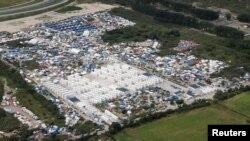 法國其中一個難民營加來的難民營已疏散了五千難民