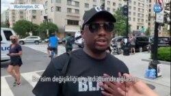 """Beyaz Saray Yakınında """"Siyahların Hayatı Önemlidir"""" Caddesi"""