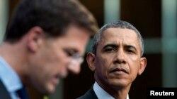El Primer Ministro holandés Mark Rutte ofreció su respaldo a EE.UU. y reconoció su intervención en la situación que se vive en Crimea durante la conferencia junto al presidente Barack Obama.