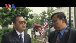 Cambodian-Americans Protest as Hor Namhong Meets Secretary Clinton