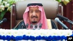 Raja Arab Saudi, Salman memberikan pidato tahunan di Riyadh (foto: dok).
