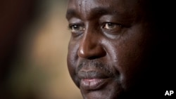 FILE - Former President of the Central African Republic, Francois Bozize, Jan. 8, 2013.