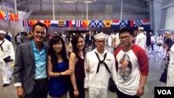 Huỳnh Trương Ngọc Tân ngày tốt nghiệp khóa huấn luyện hải quân tại Chicago, chuẩn bị sang lên đường đến San Diego. (Hình do gia đình cung cấp)