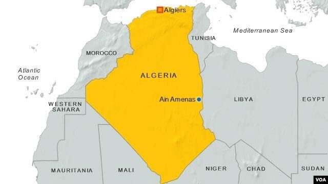 Cơ sở khai thác khí đốt Ain Amenas, Algeria, nơi xảy ra vụ bắt cóc.