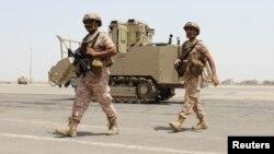 Binh lính Liên hiệp các Tiểu vương quốc Ả Rập tại sân bay của thành phố cảng Aden, Yemen. (Ảnh tư liệu)