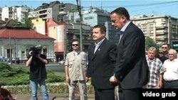 Premijer Srbije Ivica Dačić položio je venac na spomenik vođi socijalističkog pokreta u Kraljevini Srbiji, Dimitriju Tucoviću, 1. maja 2013.