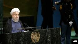 Predsjednik Irana Hassan Rouhani prilikom govora na generalnoj skupštini UN-a