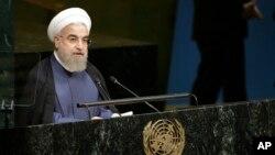 Tổng Thống Iran Hassan Rouhani tại Đại Hội Đồng Liên Hiệp Quốc ngày 28/9/2015.