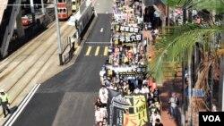 香港千人參與六四遊行 有家長呼籲傳承歷史
