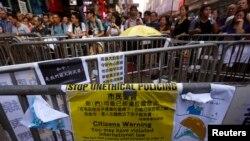 Hong Kong Pro-democracy Protests - Monday, October 20