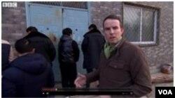 BBC照片: 进入候选人住地被阻