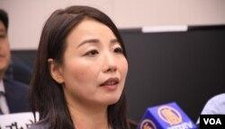 被DQ的民主派前立法會議員劉小麗。(美國之音湯惠芸)