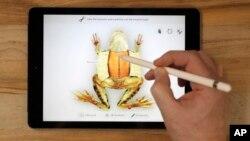La empresa develó el martes su último iPad en una secundaria de Chicago para resaltar su énfasis renovado en la educación.