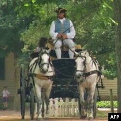 殖民地时代威廉斯堡的马车