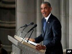 Барак Обама виголошує надгробну промову