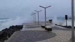 Furacão Fred em Cabo Verde: Pontão na ilha do Sal