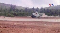 Trực thăng quân sự của Việt Nam rơi ở Bình Thuận