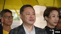 和平佔中三名發起人戴耀廷。香港佔中9人案審結,明年4月9日裁決。(美國之音湯惠芸)