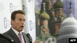 Арнольд Шварценеггер в Москве. 11 октября 2010 года