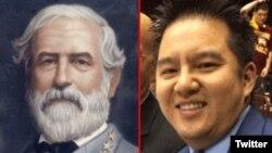 Confederate General Robert E. Lee and ESPN sportscaster Robert Lee. (Twitter: Josh Jordan @NumbersMuncher)