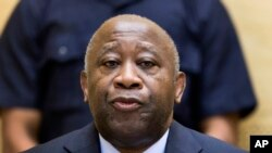 In this Feb. 19, 2013 file photo former Ivory Coast President Laurent Gbagbo attends a confirmation of charges hearing at the International Criminal Court (ICC) in The Hague, Netherlands.