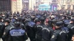 Bakıda 8 mart qadınlar yürüşü Foto Türkan Bəşir