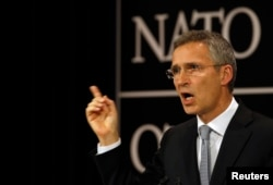 FILE - NATO Secretary General Jens Stoltenberg calls allies' solidarity 'a key value.'