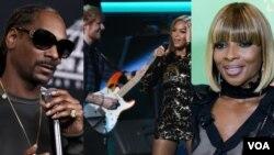 Snoop Dogg, Ed Sheeran e Beyoncé e Mary J. Blige