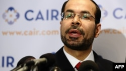 "FILE - Council on American-Islamic Relation (CAIR) National Executive Director Nihad Awad answers question during a press conference in Washington, D.C., Sept. 9, 2010. Awad condemned the Orlando shooting as ""a hate crime, plain and simple,"" and asked how the shooter will now ""stand before God."""