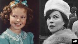Ширли Темпл в 1938 и 1965