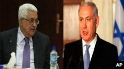 Le président Abbas (à gauche) et le Premier ministre Netanyahu (à droite)