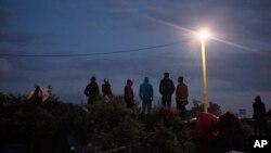 "Des migrants dans la ""jungle"" de Calais, France, 2 septembre 2015"