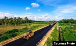 Proses pembangunan Pansela pada Agustus 2019. (Foto: Humas Kemen PUPR)