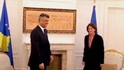Jahjaga rreth bisedimeve me Serbinë
