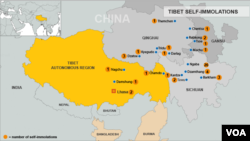 Tibet Self-Immolation Map, October 4, 2012 update